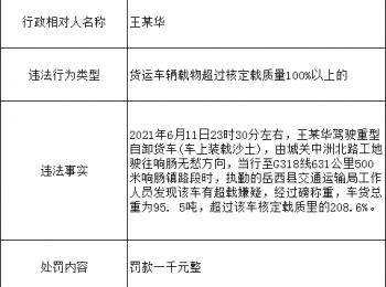 岳西县公安局2021年度部分行政处罚结果公示